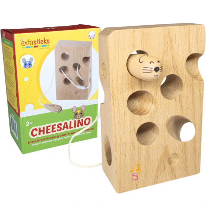 wooden cheese toy threading lacing game toddlers travel activity